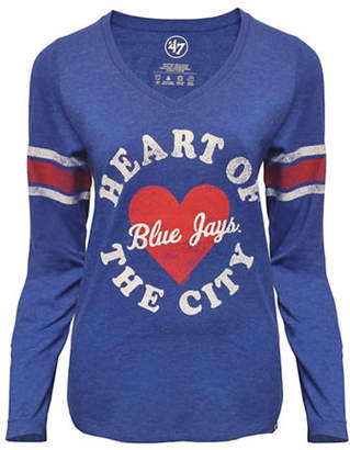 '47 Toronto Blue Jays Ladies Knockaround Club Stripe Tee