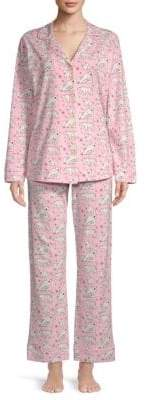 BedHead Two-Piece Printed Pajama Set