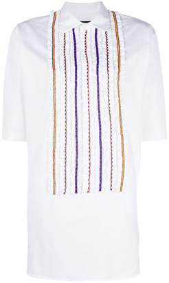 DSQUARED2 beaded ruffle shift dress