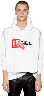 Diesel Oversize Reworked Logo Hooded Sweatshirt