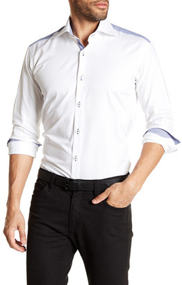 Maceoo Elegance Kapitain Cross Long Sleeve Trim Fit Shirt (Big & Tall Available) $158 thestylecure.com