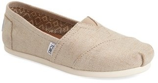 Women's Toms 'Classic - Metallic Burlap' Slip-On $54.95 thestylecure.com