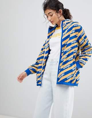 Wrangler Blue and Yelow Zip Through Windbreaker Jacket