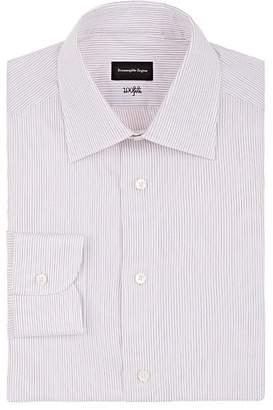 Ermenegildo Zegna Men's Pinstriped Cotton Poplin Dress Shirt