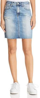 AG Jeans Erin Denim Skirt in 16 Years Indigo Deluge Destructed