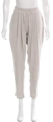 Black Crane High-Rise Straight-Leg Pants