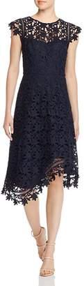 Eliza J Cap Sleeve Lace Midi Dress