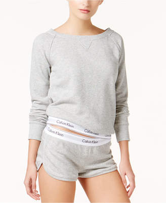 Calvin Klein Modern Cotton Long Sleeve Top QS5718 $68 thestylecure.com
