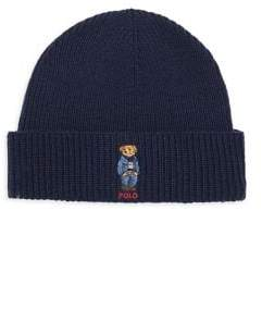 Polo Ralph Lauren Wool& Cashmere Embroidered Bear Beanie