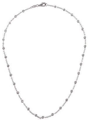 Aaron Basha 18K Diamond Station Necklace