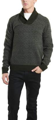 Woolrich Siple Shawl Sweater