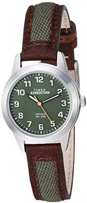 Timex Women's TW4B12000 Expedition Field Mini Nylon/Leather Strap Watch