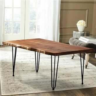 Foundry Select Mathilda North American Hairclip Legs Coffee Table with Tray Top Foundry Select