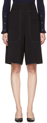 See by Chloe Black Crepe Shorts