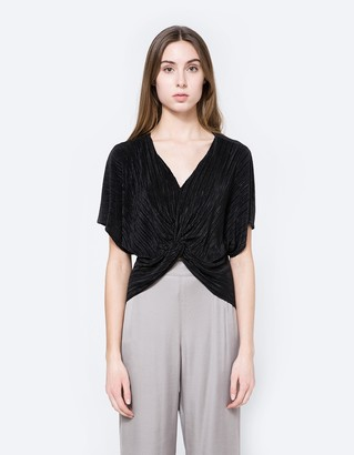 Micro Pleat Twisted Blouse $48 thestylecure.com