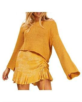 MinkPink Cropped Slouch Sweater