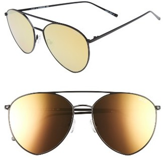 Women's Quay Australia X Jasmine Sanders Indio 60Mm Mirrored Aviator Sunglasses - Black/ Gold $65 thestylecure.com