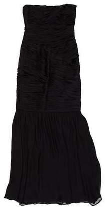 Halston Strapless Maxi Dress