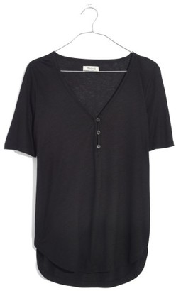 Women's Madewell Drapey Henley Tee $39.50 thestylecure.com