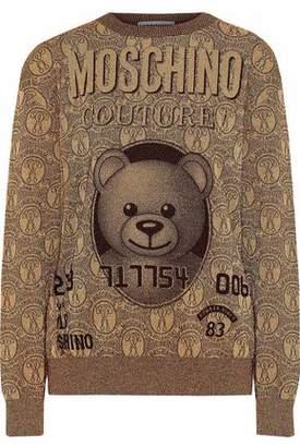 Moschino Metallic Intarsia-Knit Sweater