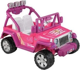 Fisher-Price Barbie Power Wheels Jammin' Jeep Wrangler by