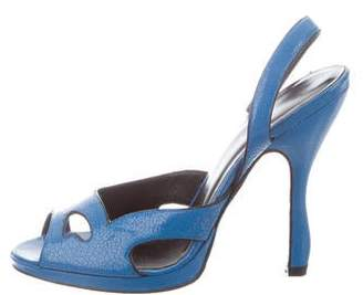 Rochas Crackle Slingback Sandals
