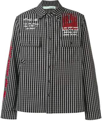 Off-White classic striped shirt