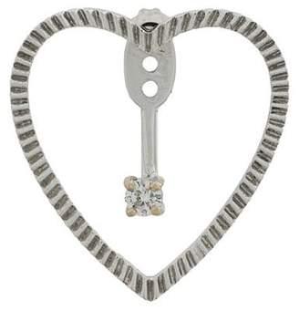 Leon Yvonne 18kt gold and diamond Heart Earrings