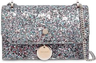 Jimmy Choo Finley Glittered Leather Shoulder Bag