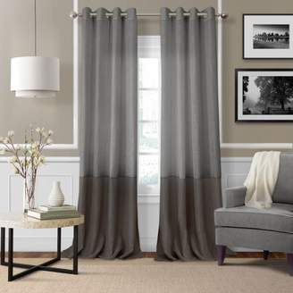 """Elrene Home Fashions Melody Sheer Colorblock Window Panel, 52"""" x 84"""""""