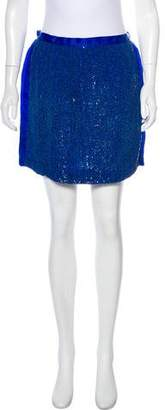 Robert Rodriguez Silk Mini Skirt