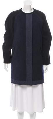 Etoile Isabel Marant Wool-Blend Zip-Up Coat