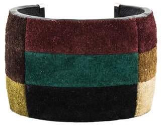 Celine Multicolor Suede Cuff black Multicolor Suede Cuff