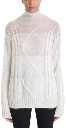 Maison Margiela Pull Oversize Ricamicable-knit Mohair-blend Jumper