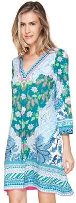 Hale Bob Emily Dipped V-Neck Jersey Dress