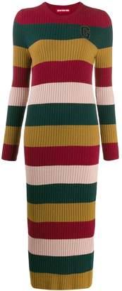 Guardaroba striped knit maxi dress