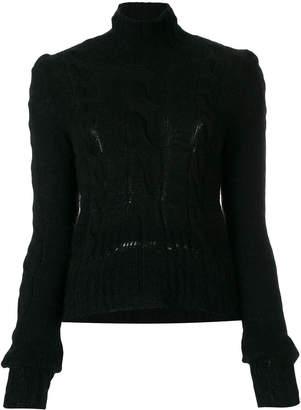 A.F.Vandevorst high neck cable knit jumper