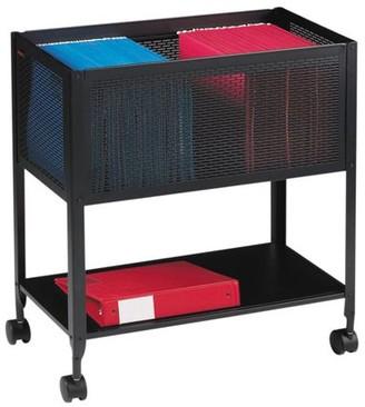 Lorell 1 Drawers Filing Cart Steel , Black