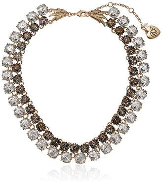 Betsey Johnson Angels & Wings Patina Faceted Stone 2 Row Necklace