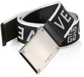 Givenchy Men's Plate Buckle Belt - Black White - Size 100 (40)