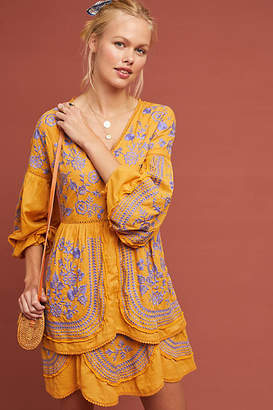 Meadow Rue Lisette Embroidered Tunic Dress