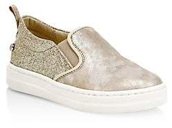 Naturino Little Girl's& Girl's Prato Step Leather& Textile Sneakers