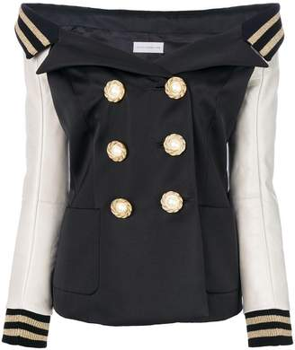 Faith Connexion double breasted off-the-shoulder jacket