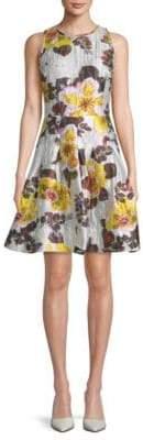 Oscar de la Renta Floral A-Line Dress
