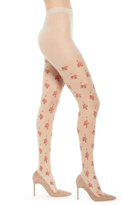 Nordstrom Sheer Floral Intarsia Tights