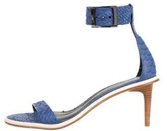Tibi Embossed High-Heel Sandals