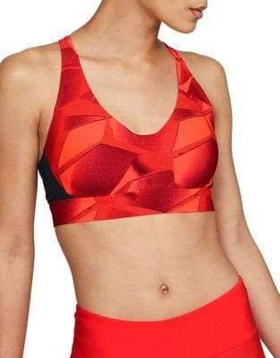 Under Armour Womens UA Vanish Mid All Over Print Sports Bra