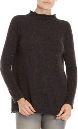 Qi Reverse Seam Speckle Sweater
