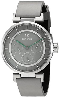 Issey Miyake (イッセイ ミヤケ) - イッセイミヤケ' W Mini ' Quartzステンレススチールand GreyレザーCasual Watch ( Model : nyab002y )