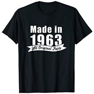 Mens Made in 1963 All Original Parts Shirt for Men and Women